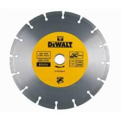 Диск алмазный DeWALT, 125х1.8x22.2мм, сегментный, сухой рез, для резки основных строительных материалов : кирпич, бетон, цементная стяжка.