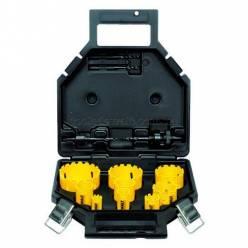 Набор цифенборов DeWALT с карбидовим порошковым покрытием d=16,20,25,32,40,51,64 мм, 2 ограничителя, 2 центрирующие сверла, чемодан.
