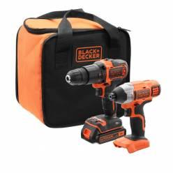 Набор инструментов аккумуляторных Black+Decker BCK21S1S