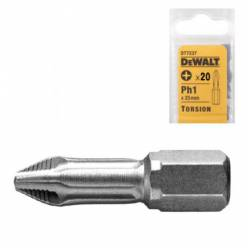 "Бита торсионная DeWALT ""Extra Grip"" Ph1, L=25мм, 20шт"