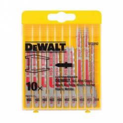 Набор полотен пильных DeWALT по металлу для электролобзиков, 10шт (DT2160 3шт, DT2172 2шт, DT2054 1шт, DT2161 2шт, DT2163 2шт)