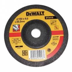 Круг шлифовальный по металлу вогнутый, 150х22,2х6,0мм, DeWALT DT3416-QZ