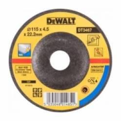 "Круг шлифовочный DeWALT ""INOX"" по металлу, 115х4.5х22.2мм, согнутого профиля."