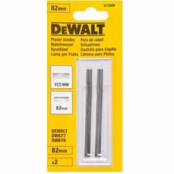 Ножи для рубанка DeWALT, двухсторонние , материал ТСТ , L = 82 мм, одна пара.
