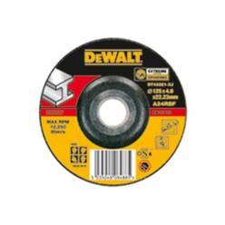 Круг шлифовальный по металлу, 125х6х22.2мм, DeWALT DT42320, согнутого профиля