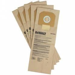 Мешки DeWALT одноразовые, бумажные , для пылесосов DWV900L , 902l , 902m , 5шт.