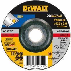 Круг шлифовальный по металлу DeWALT DT99581 XR INOX (125х3х22.23 мм)
